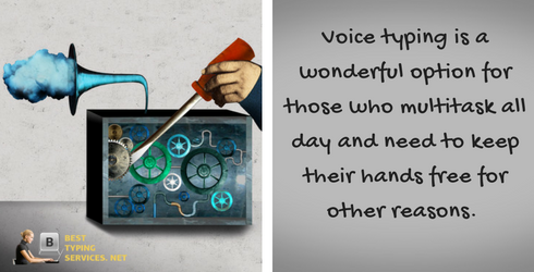 professional voice typing services