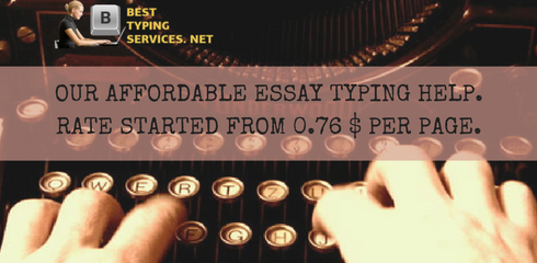affordable essay typing help