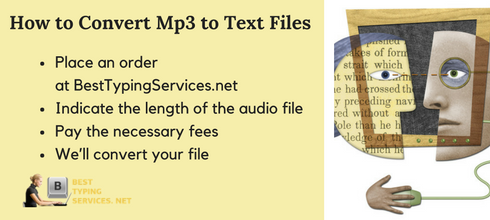 steps on how to convert mp3 to text