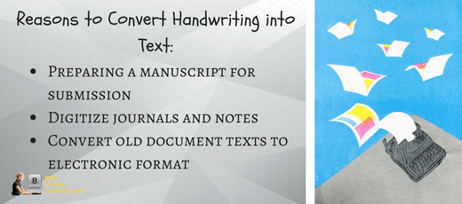 reasons to convert handwriting into text