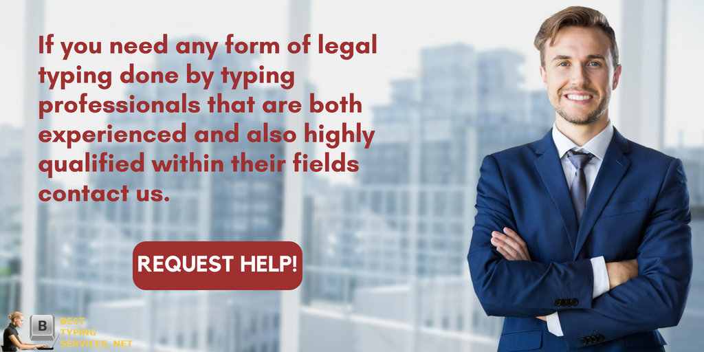 legal typing services