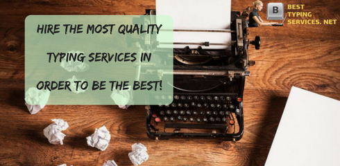 quality typing services