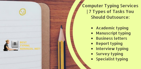 types of tasks of computer typing services