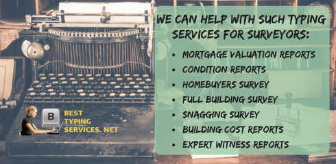 typing services for surveyors