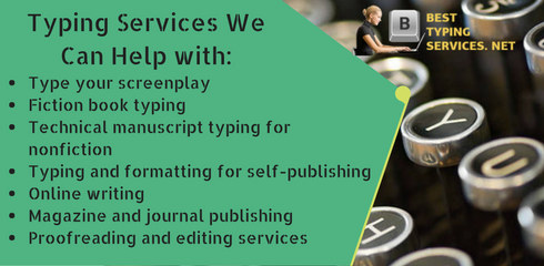 typing services we can help with