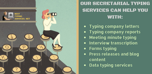 secretarial typing services tasks