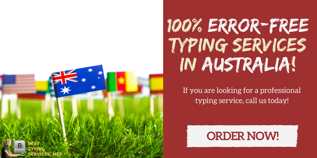 masterful typing services in Australia