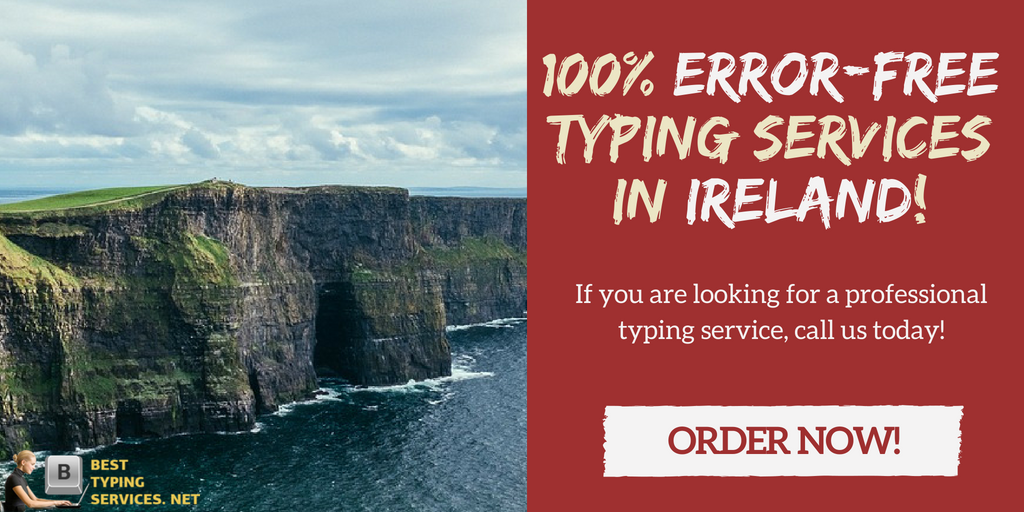 professional Ireland online typing services