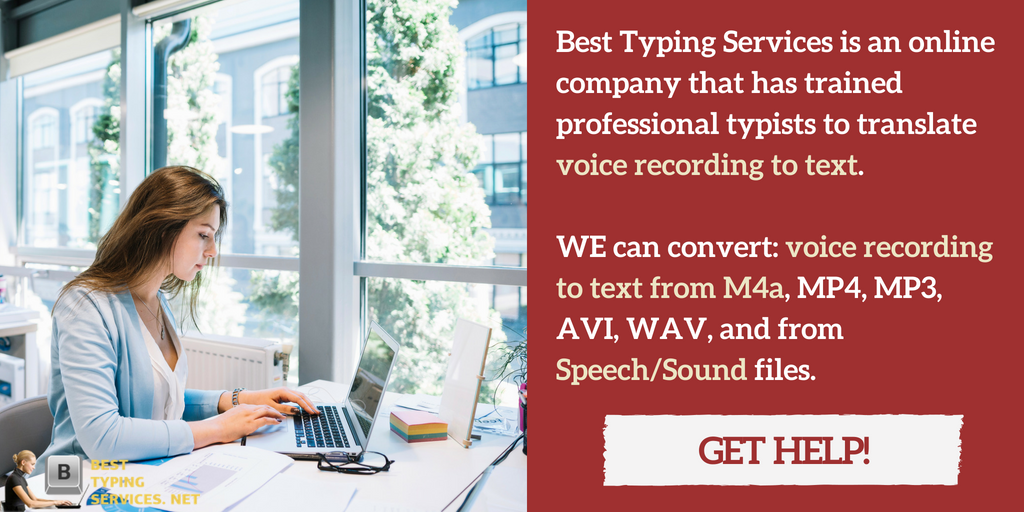 professional help to convert voice recording to text