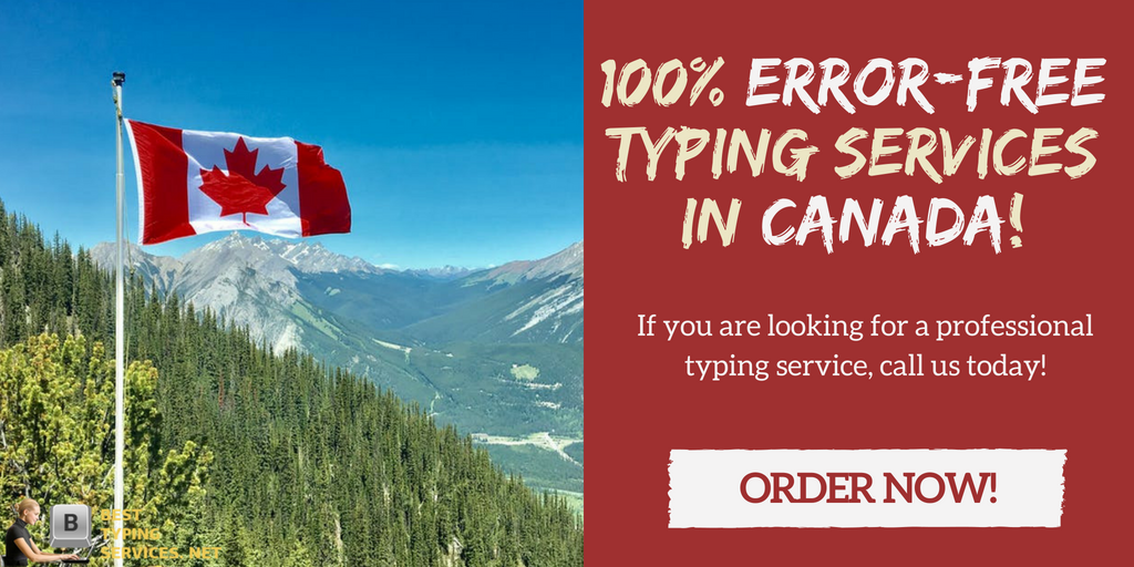 professional typing services online in Canada
