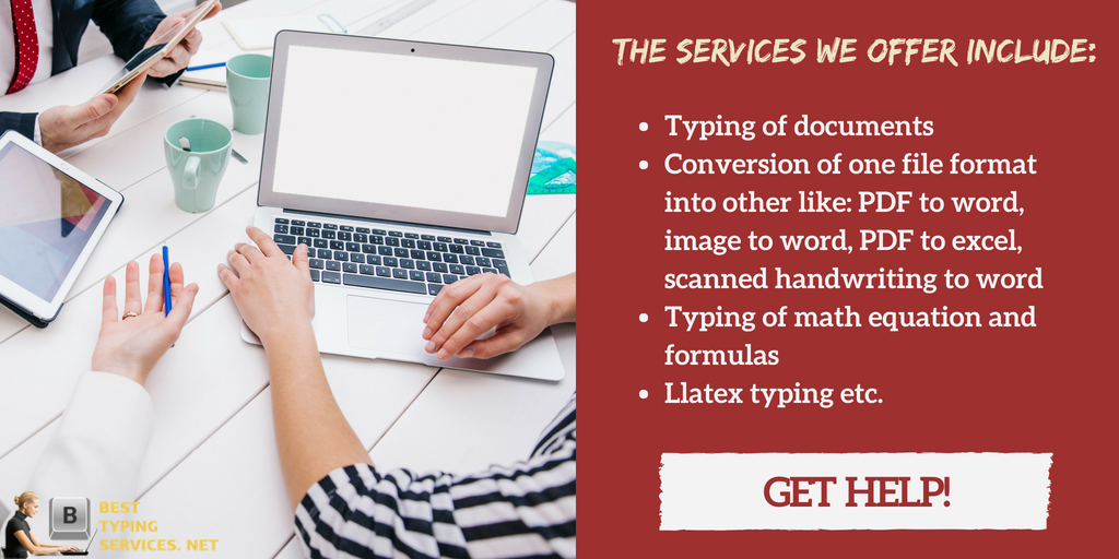 professional typing services rates guide