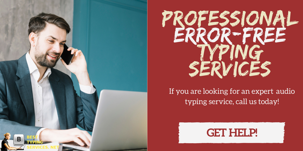 professional audio typing services